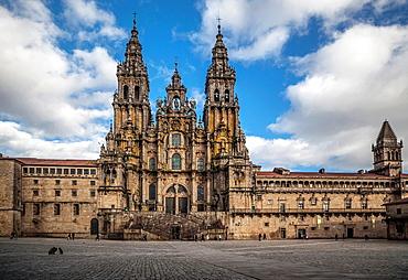 Santiago De Compostela,Galicia,Spain Praza Do Obradoiro And Cathedral