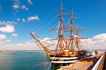 The Italian sailing vessel Amerigo Vespucci, port of Odessa, Ukraine, Europe