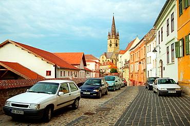 Historical building, Sibiu, Transylvania, Romania, Europe