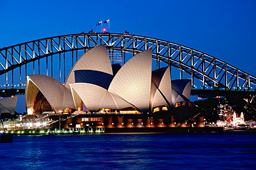 Sydney Opera House in he evening