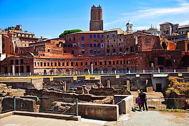 Nerva Forum, Imperial Forum, Rome, Lazio, Italy.