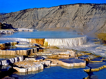 Mammoth Hot Springs Opal Terrace Yellowstone National Park Wyoming United States of America USA.