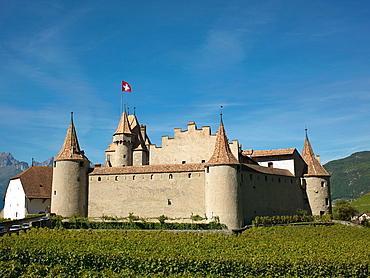 Switzerland, Canton Vaud Aigle The Castle of Aigle.