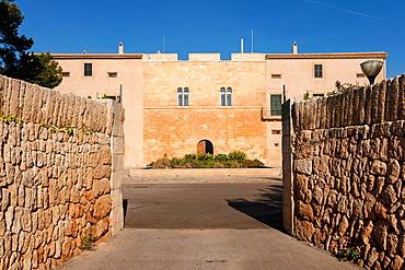 Gothic tower, Sa Torre, documented in the Muslim period as farmhouse al-Borge, Llucmajor, mallorca, Balearic Islands, Spain, Europe