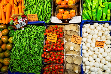 balearic products, fruits and vegetables Miquel Gelabert, Olivar market, Palma, Mallorca, Balearic Islands, Spain