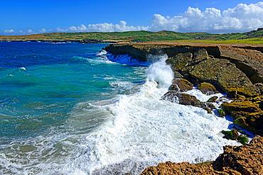 Surf at Natural Bridge Area Aruba Oranjestad Netherland Antilles NA Caribbean