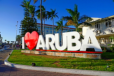 I Love Aruba Sign Oranjestad Netherland Antilles NA Caribbean