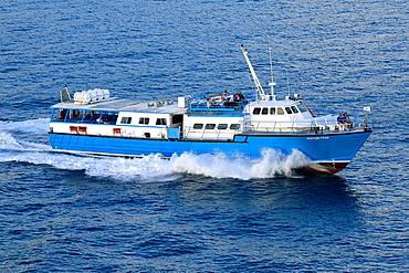 Ferry Boat in Charlotte Amalie Harbor St Thomas Virgin Islands USVI Caribbean US Territory