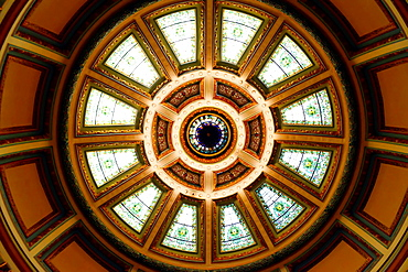Dome in Senate Chamber State Capitol Jackson Mississippi MS US