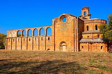 Ruins of Santa Maria de Moreruela Cistercian monastery 12th century, Silver Route, Granja de Moreruela, Via de la Plata, Zamora province, Castilla-Leon, Spain