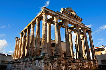 Diana Temple in Merida. Badajoz. Extremadura. Spain.