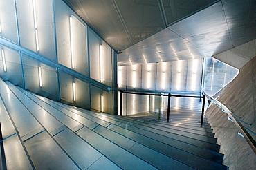Modern stairs inside Casa da Musica in Port city, Portugal