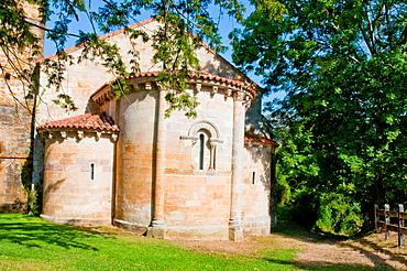 Apse of San Pedro de Villanueva church. Villanueva de Cangas, Asturias, Spain.