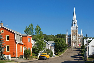 street of Le Bic, Bas-Saint-Laurent region, Quebec province, Canada, North America