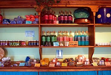 shop of the soap-factory La Fille de la Mer, La Grave, Havre-Aubert island, Magdalen Islands, Gulf of Saint Lawrence, Quebec province, Canada, North America