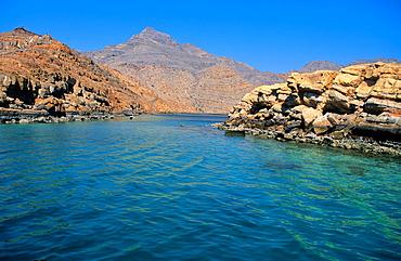 Strait of Hormuz. Musandam peninsula. Oman