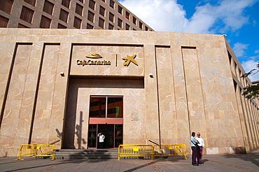 Caja Canarias bank Plaza Patriotismo square central Santa Cruz city Tenerife island the Canary Islands Spain Europe