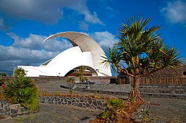 Auditorio de Tenerife building 2003 by Santiago Calatrava in Santa Cruz city Tenerife island Canary Islands Spain