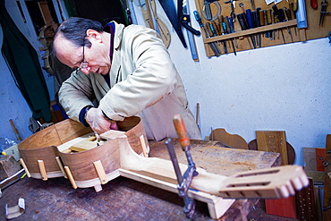 Workshop of Andres Dominguez,luthier,Guitar maker Calle Covadonga 9 Triana quarter,Sevilla,Spain