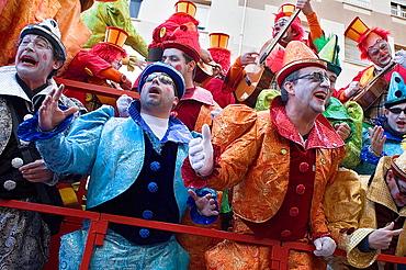Carnival Parade of choirs in Segunda Aguada Avenue Cadiz, Andalusia, Spain