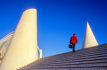 Entrance to City of Arts and Sciences, by S Calatrava Valencia Spain
