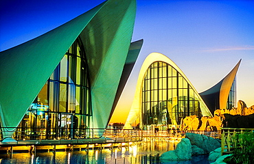 Oceanografic by Felix Candela, in City of Arts and Sciences by S Calatrava Valencia Spain