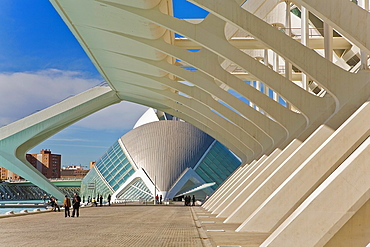 Principe Felipe Sciences Museum and The Hemisferic, City of Arts and Sciences, by S Calatrava Valencia Spain