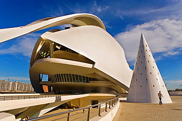 Palacio de las Artes Reina Sofia,City of Arts and Sciences by S Calatrava Valencia Spain