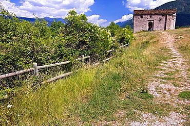Mozarabic, Romanesque Church San Juan de Busa, Olivan, Larrede, Biescas, Serrablo, Alto Gallego, Huesca Province, Aragon Pyrenees, Aragon, Spain