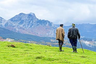 Shepherd in Roncal Valley, Navarre, Spain