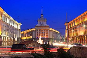 Sofia City Centre at Christmas, Bulgaria