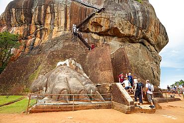 Sri Lanka, Sigiriya, Lion's Gate, ancient Royal Fortress in Sri Lanka, UNESCO World Heritage Site