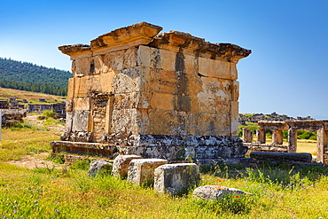 Turkey, Pamukkale Hierapolis, ruins of the ancient city, Necropolis, Tomb 175 2nd, 3rd centuries AD, Unesco