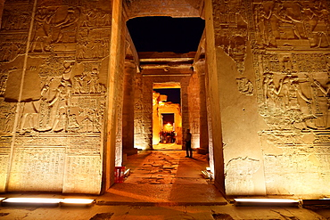 Kom Ombo, inside the Temple of Sobek, a Crocodile Temple, South Egypt