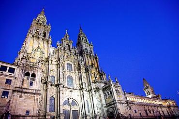 Cathedral, Santiago de Compostela. La Coruna province, Galicia, Spain