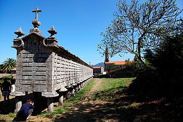 Horreo de Carnota, La Coruna province, Galicia, Spain