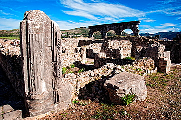 Archeological Site, Roman Ruins, Volubilis. Morocco