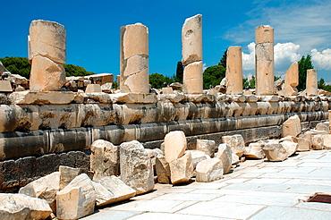 Roman road, antique city of Ephesus, Efes, Turkey, Western Asia
