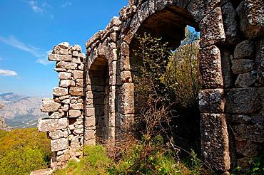 Antique city of Termesos Termessus Taurus Mountain, Turkey, Western Asia
