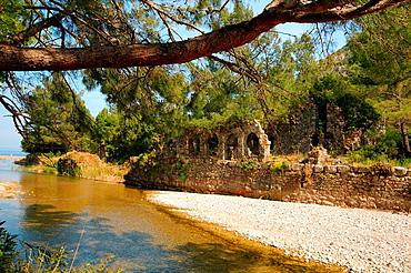 Ruin, Olympos Lycia Turkey, Western Asia