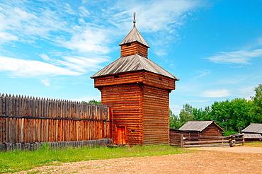 Spassky passable tower of the Ylym jail, 1667 'Taltsa's' Talzy, Irkutsk architectural and ethnographic museum Baikal, Siberia, Russian Federation