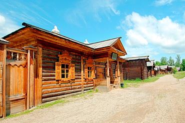 Country wooden estate 'Taltsa's' Talzy, Irkutsk architectural and ethnographic museum Baikal, Siberia, Russian Federation