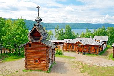 Kazan church of the Ylym jail, 1679 'Taltsa's' Talzy, Irkutsk architectural and ethnographic museum Baikal, Siberia, Russia
