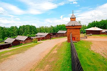 Spassky passable tower of the Ylym jail, 1667 'Taltsa's' Talzy, Irkutsk architectural and ethnographic museum , Baikal, Siberia, Russian Federation