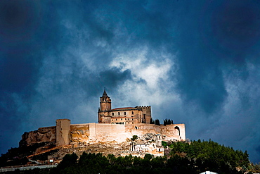 La Mota castle on the hill, Alcala la Real, Spain