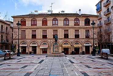 Arcipreste de Hita square and City Hall, Alcala la Real, Jaen province, Andalusia, Spain