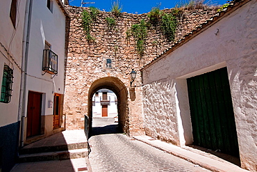 Mudejar door in Sabiote, Jaen province, Spain