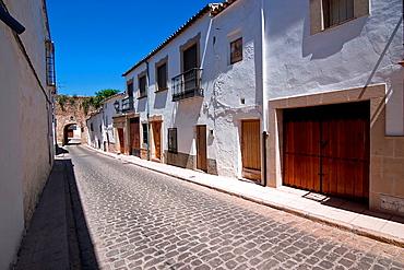 Street of Sabiote and Arabic door, Jaen, Spain