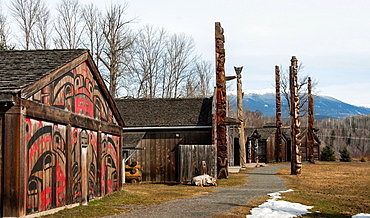 Ksan Historical Village and Museum Ksan is located near the ancient village of Gitanmaax, at the confluence of the Bulkley and Skeena Rivers. Hazelton, British Columbia