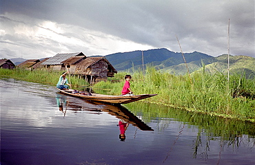 Life in stilt houses, Inle Lake, Myanmar, Burma